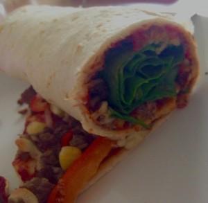 Færdig Tizza Roll tværsnit - Bon appetit!