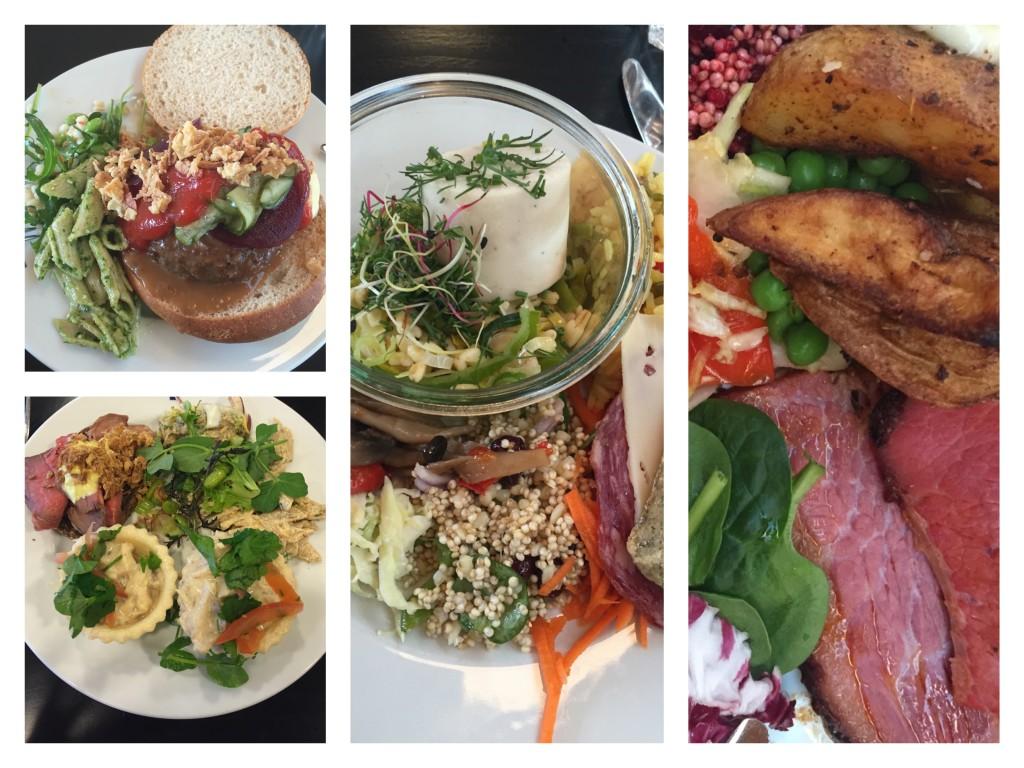 Tarteletter, bøfsandwich, dampet fisk, flank steak...