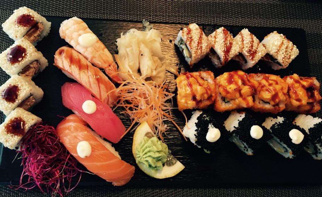 Blandet sushi fra Sei Sei