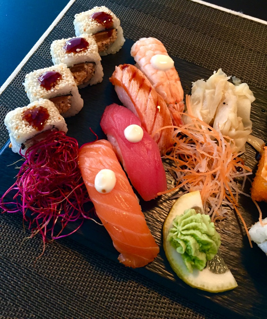 Nigiri, wasabi og ingefær