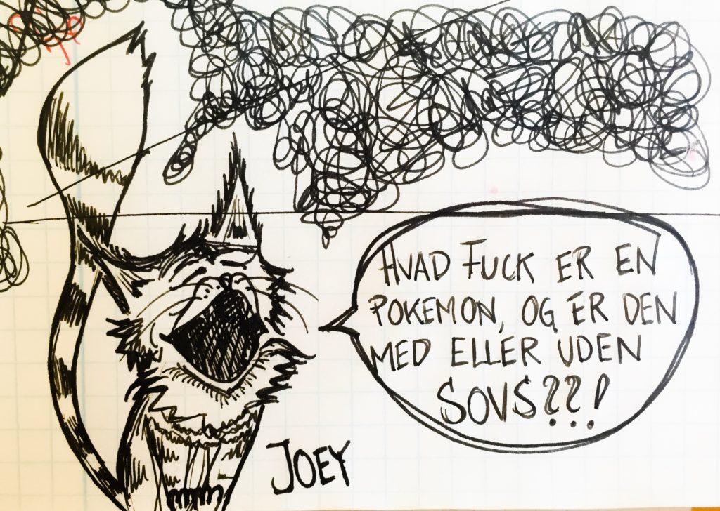 Joey er ikke imponeret...